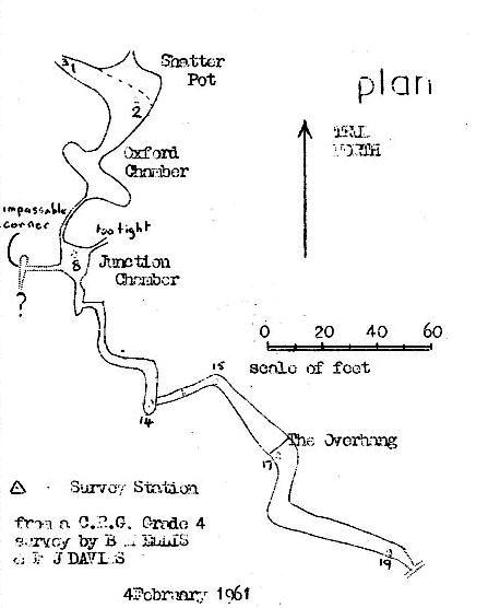 Figure 1 – Plan section of Shatter Passage survey
