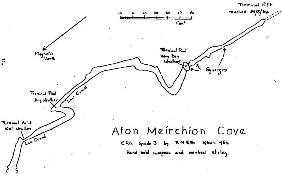 Figure 3 – Survey of Afon Meirchion Cave