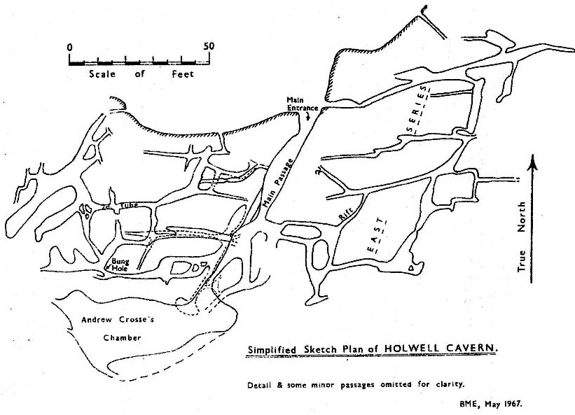 Figure 3 – Simplified Survey of Holwell Cavern